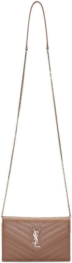 ysl clutch bag price - Image 1 of Saint Laurent Medium Monogram College Bag in Dark Gold ...