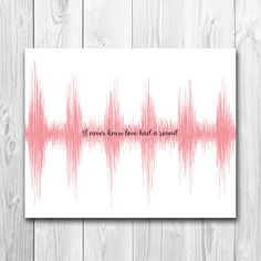 **Please be aware that this is NOT a physical item. It will be sent to you via email provided through Etsy. You can request it to be sent elsewhere, let me know in the note to seller section** This one of a kind sound wave art gives you the chance to remember what it felt like the