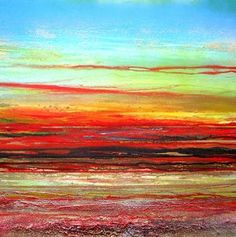 """Saatchi Online Artist Mike Bell; Mixed Media, """"Sunset Series Redesdale no4"""" #art"""