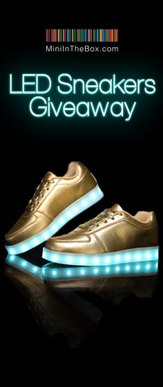 MiniInTheBox LED Sneakers Giveaway Want to win awesome LED sneakers? 5  lucky followers will get