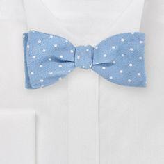Chambray Polka Dot Bow Tie from Bows N' Ties