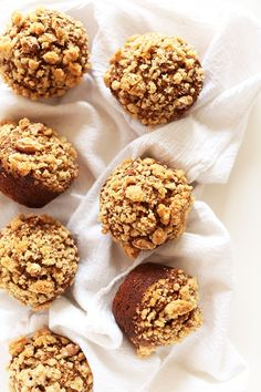 Easy, 1-bowl vegan banana muffins with a crumbly, sweet top. Simple, healthy, and so delicious.