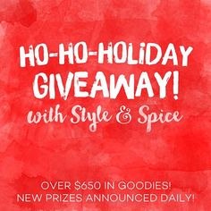 We are so excited to announce that our Ho-Ho-Holiday Giveaway has started! Get ready to win some awesome prizes!