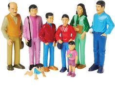 Pretend Play Family Figurine Set