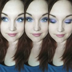 Purple and Blue 100% mineral eye pigments. Younique's Precocious, Regal, Flirty and Awestruck were used to create this eye makeup that will help any eyes POP!  Click here to grab then in a set of 4 for only $45 : https://www.youniqueproducts.com/HeatherBerg/business