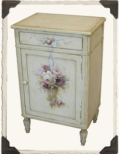 "Enchanted Cottage Nightstand, 19"" x 13½"" x 30"" h. $199.95 at victoriantradingco.com, 12/10/15"