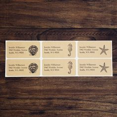Custom Return Address Labels  Under the Sea Set One by packagery, $4.00