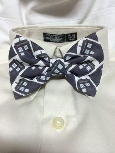 Blue phonebox Print Bowtie / Bow Tie