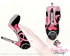 GC for CBLove. The KillR Heel for Breast Cancer Awareness Month.   Stop by and join the Crazy Bitch Society and see why we are all going crazy over them ....  http://www.facebook.com/CrazyBSociety?fref=ts  Like, Share , Spread the word .....