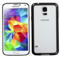 MYBAT Hybrid Gummy Cover Case for Samsung Galaxy S5 - Clear/Black