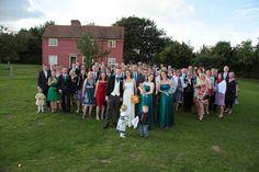 Group wedding shot at Kent Life