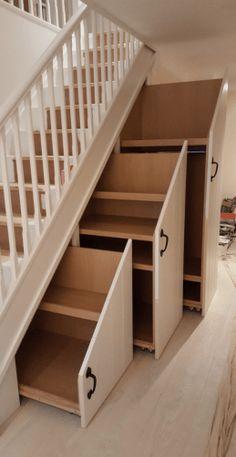 Home Stairs Design, Home Room Design, Home Interior Design, House Design, Staircase Storage, Under Stair Storage, Hidden Storage, Under Stairs Storage Solutions, Secret Storage