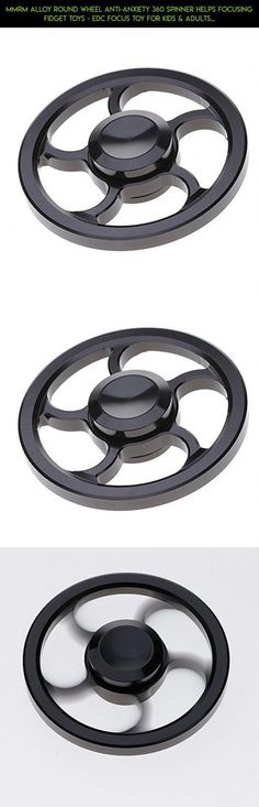 Mmrm Alloy Round Wheel Anti-Anxiety 360 Spinner Helps Focusing Fidget Toys - EDC Focus Toy for Kids & Adults - Best Stress Reducer Relieves ADHD Anxiety and Boredom - Black #products #gadgets #parts #racing #camera #fpv #shopping #drone #mmrm #kit #plans #spinner #technology #metal #tech