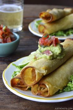 Baked Chicken and Cheese Taquitos | Just a Taste