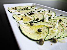 CARPACCIO DE CALABACIN (Zucchini Carpaccio) #recetas