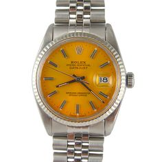 """This makes me happy. Rolex Stainless Steel Datejust """"Spanish Gold"""" Dial WG Bezel"""