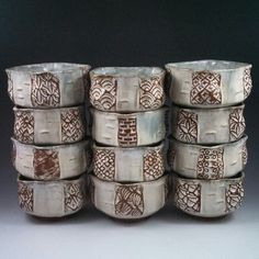 Ash Glazed Bowls Eric Botbyl Pottery Bowls, Ceramic Pottery, Local Artists, Napkin Rings, Glaze, Ceramics, Ash, Pots, Decor
