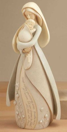 by Karen Hahn Sculptures Céramiques, Sculpture Art, Paper Clay, Clay Art, Willow Tree Figurines, Pottery Painting Designs, Ceramic Angels, Cute Clay, Madonna And Child