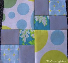 Farmers wife sampler quilt along block No.2 by catherine's attic, via Flickr