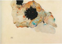 Egon Schiele - Study of a Couple, 1912