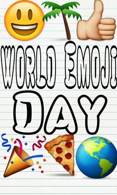 Speak another language today-it's World Emoji Day. So what do you want to say? Say it with Emojis! More at GotMyHappy.com