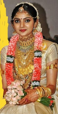Indian Bridal Photos, Indian Wedding Fashion, Indian Bridal Outfits, Kerala Bride, Hindu Bride, South Indian Bride, Beautiful Bollywood Actress, Most Beautiful Indian Actress, Indian Bridal Couture