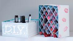 DIY lipstick holder                                                                                                                                                                                 More