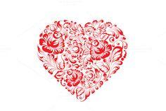 Heart of gzhel flowers. by Romantic Vintage Flowers on Creative Market