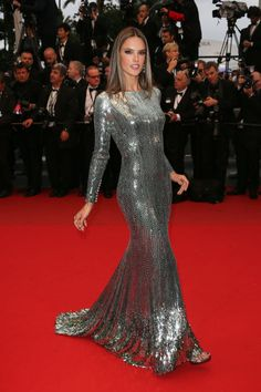 The absolute best of Cannes red carpet fashion: Alessandra Ambrosio in Roberto Cavalli in 2013.