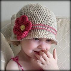 Download Now - CROCHET PATTERN Cuteness Cloche Hat - Baby to Adult - Pattern PDF. $5.50, via Etsy.