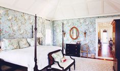 Design & Décor Inspiration: a collection of images featuring print & pattern, wallpaper in toile, Gracie and de Gournay, in sumptuous rooms with canopy beds