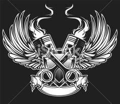 cross pistons Royalty Free Stock Vector Art Illustration
