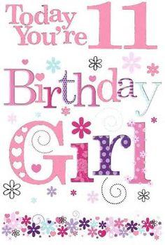 12th Birthday Girls, Birthday Wishes Girl, Happy 11th Birthday, Birthday Girl Quotes, Cute Birthday Cards, Birthday Wishes Cards, Happy Birthday Messages, Happy Birthday Images, Happy Birthday Greetings
