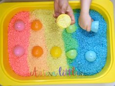 Quickest Way to Dye Rainbow Rice for Sensory Play - Active Littles
