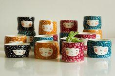 Set of 4  Speciall Offer  15%  ceramic pot  by MarinskiHandmades