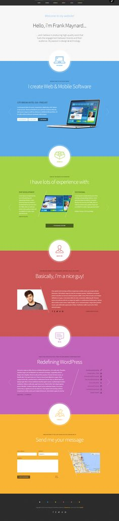 Freelancer One Page WordPress Theme http://themefuse.com/wp-themes-shop/one-page-wordpress-theme/?r=27299 #web #design #wordpress