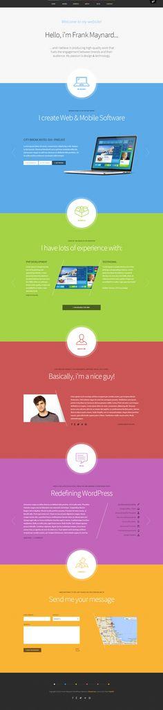 Freelancer One Page WordPress Theme http://themefuse.com/wp-themes-shop/one-page-wordpress-theme/?r=27299 #web #design #wordpress