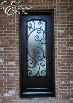 Custom wrought iron door. Entrance, Doors, Single Doors, Iron Gates, Front Entrances, Wrought Iron Doors, Iron Doors