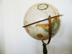 Retro Globe Map Replogle 12  Floor Stand  Office by 1RustyRabbit, $75.00
