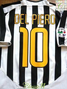 d71abc0d1 2003 04 Juventus Home Serie A Football Shirt Del Piero  10 (XL). Vintage  Football ShirtsVintage ...