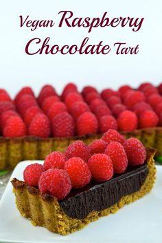 Chocolate Raspberry Tart  #Chocolate #raspberry #tart #vegan #glutenfree  #kosher #dessert #recipe #healthy #cake #crust