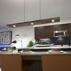 Vix 5 Light LED Linear Pendant  Great ideas for illuminating your living spaces. Get your kitchen remodeled in a unique way!!