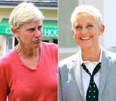 16 Shocking Photos Of Celebrities Before And After Makeup - Ellen DeGeneres Without makeup she looks like trump Celebrity Makeup, Celebrity Look, Celebrity Gossip, Celebrity Pictures, Celebrities Before And After, Celebrities Then And Now, Ellen Degeneres, Celebs Without Makeup, Makeup Before And After