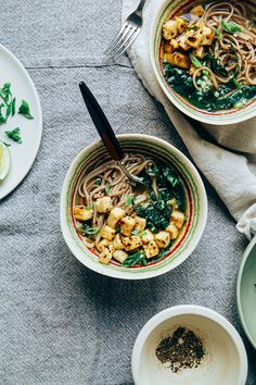garlic pepper soba w/ chili-roasted tofu | thefirstmess.