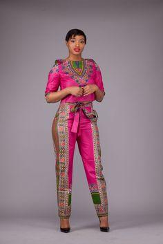 Limited Vlisco Pink Dashiki Set