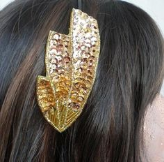 Gold Art Deco headband.
