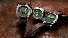 Panerai's Green Dial Collection is one of their best color options yet - Acquire