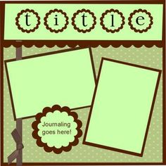 Image result for scrapbook templates