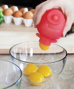 Another great find on #zulily! Red Little Monster Egg Separator #zulilyfinds