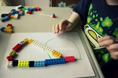 Crayon Freckles: using legos to teach math and writing